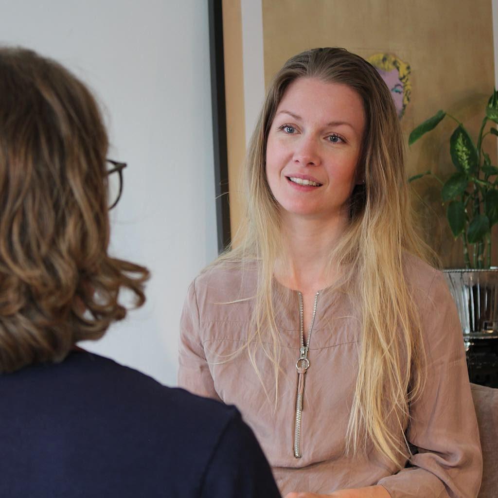 Billedet viser individuel terapi ved psykoterapeut SigneStausholm