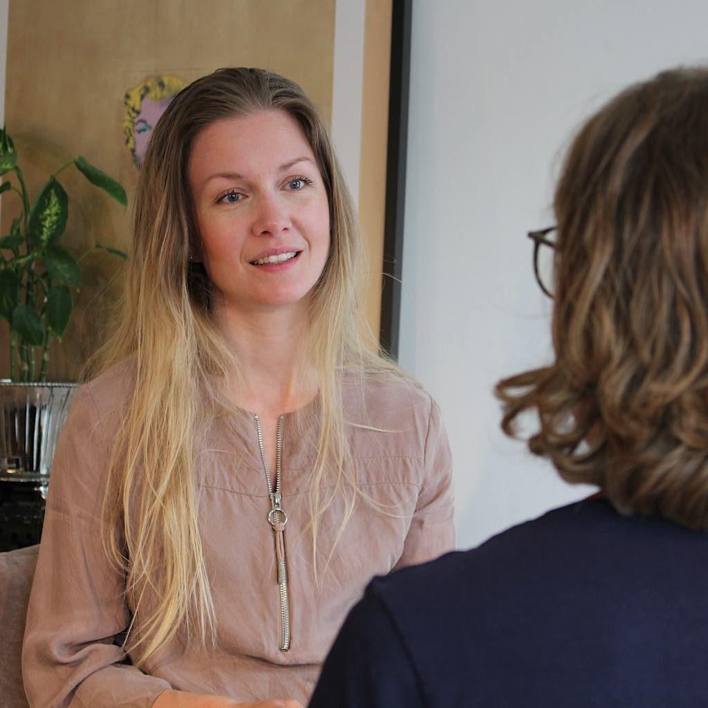 Billedet viser individuel terapi ved sexolog SigneStausholm